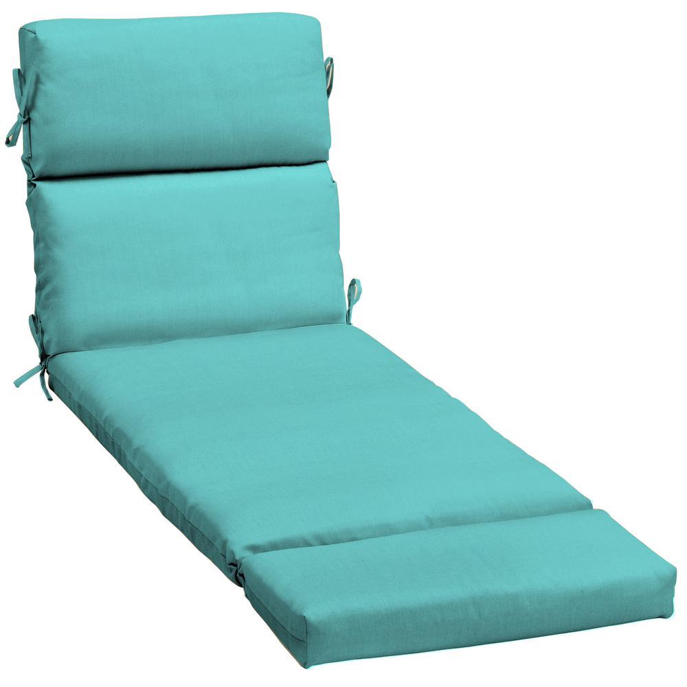 23 x 48 Sunbrella Canvas Aruba Outdoor Chaise Lounge Cushion