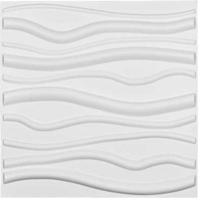 1 in. x 19-5/8 in. x 19-5/8 in. White PVC Jackson EnduraWall Decorative 3D Wall Panel