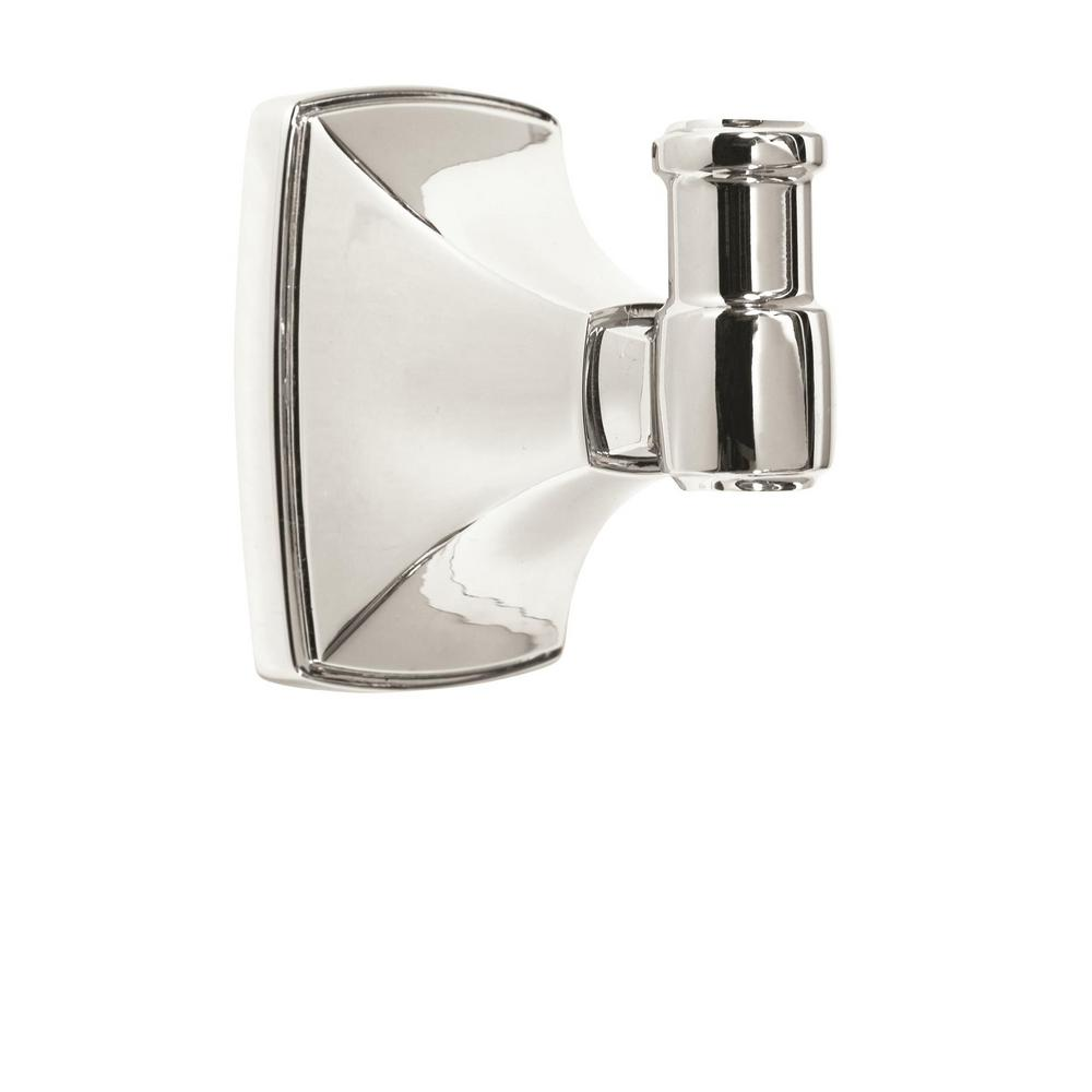 Clarendon Wall Mount Single Robe Hook in Polished Chrome