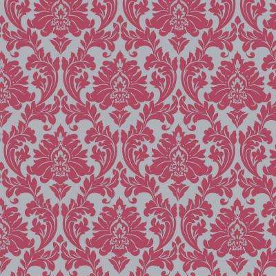 Majestic Hot Pink Removable Wallpaper