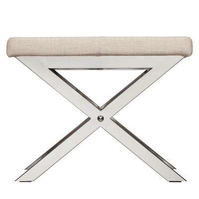 Richardson Oatmeal Linen Vanity Stool