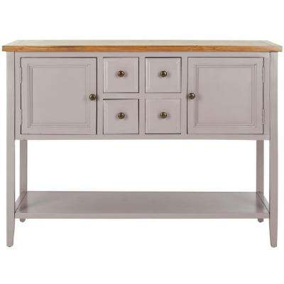 Charlotte Quartz Grey and Oak Buffet with Storage
