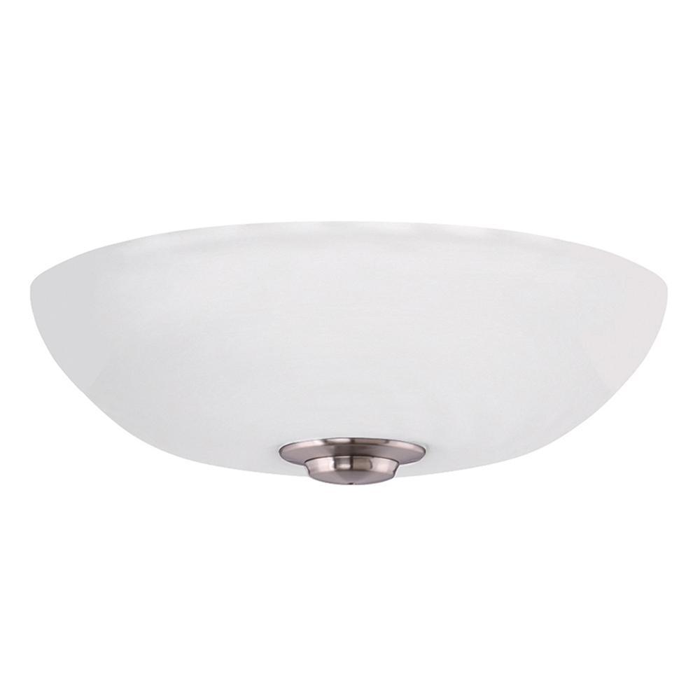 Harlow Opal Matte 3-Light Brushed Steel Ceiling Fan Light Kit
