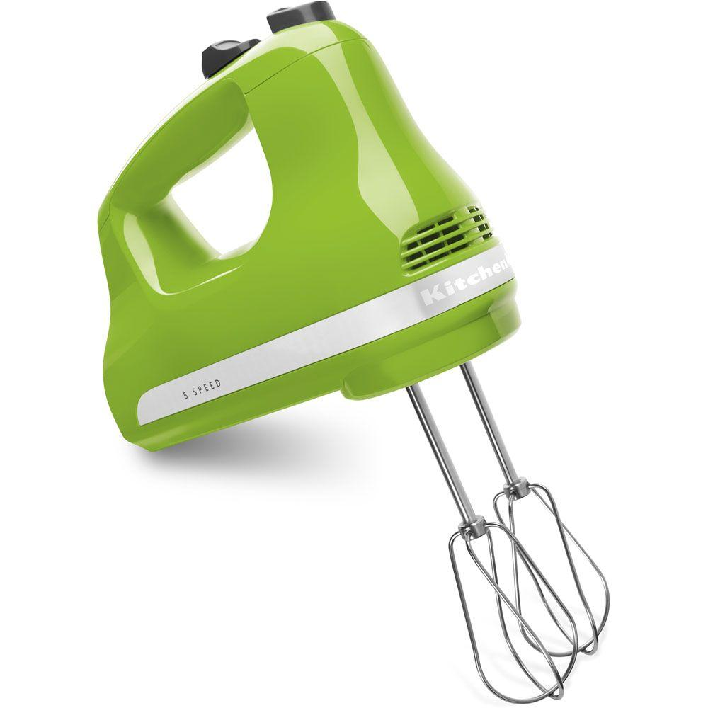 KitchenAid Ultra Power 5-Speed Green Apple Hand Mixer