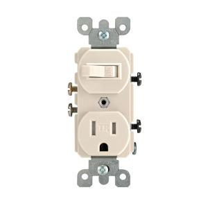 light almond leviton outlets receptacles r56 t5225 0ts 64_300 leviton 15 amp tamper resistant combination switch outlet, light leviton switch outlet combination wiring diagram at crackthecode.co
