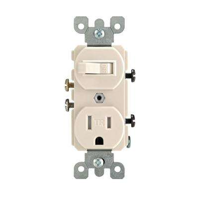 15 Amp Tamper-Resistant Combination Switch/Outlet, Light Almond