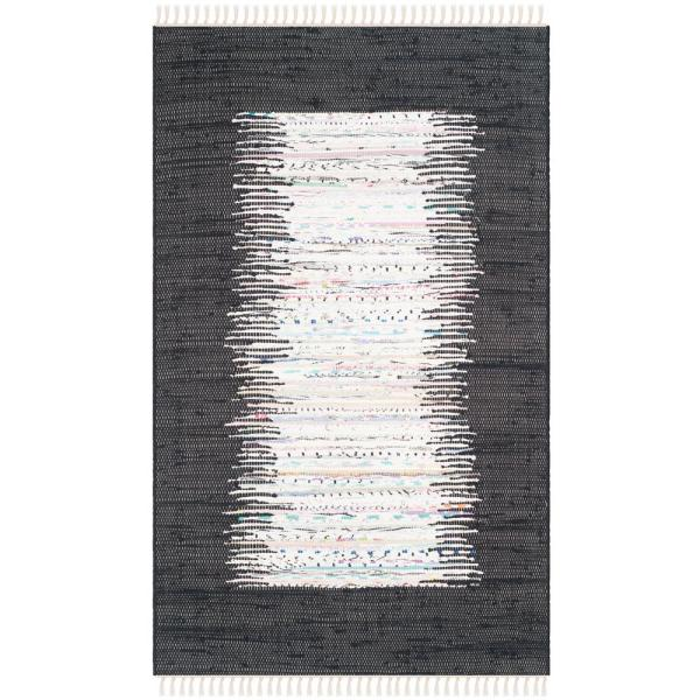 Montauk Ivory/Black 3 ft. x 5 ft. Area Rug