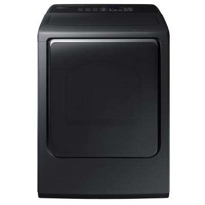 7.4 cu. ft. Gas Dryer with Steam in Black Stainless Steel, ENERGY STAR