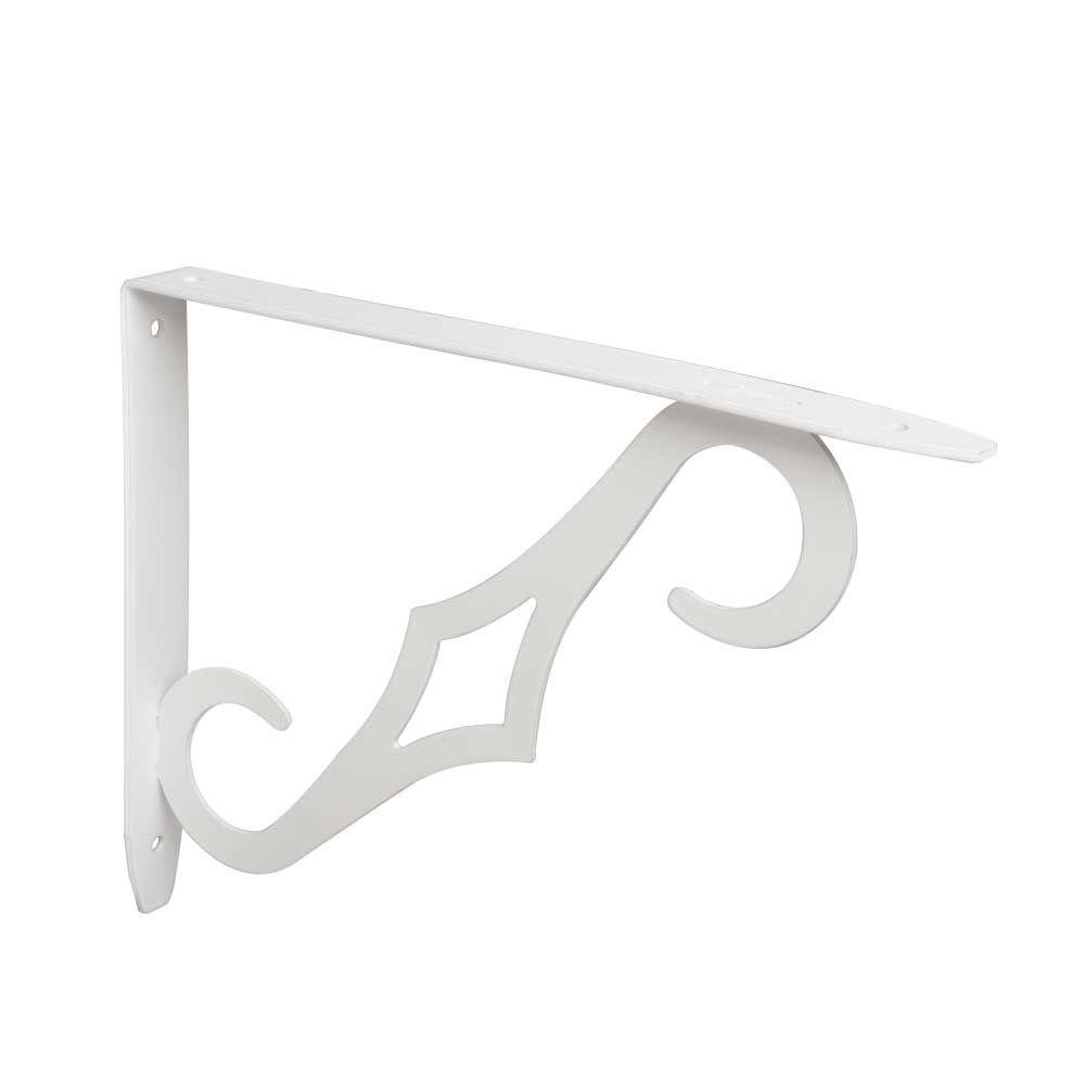JOHN STERLING Colonial 9.7 in. x 7.75 in. Warm White 50 lb. Decorative Shelf Bracket