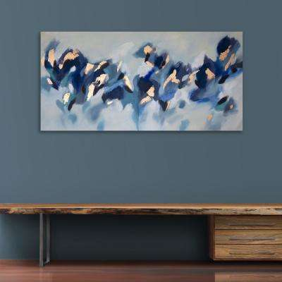 """30 in. x 60 in. """"Fluttering Leaf"""" by Milo Printed and Painted Canvas Wall Art"""