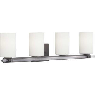 Lisbon Collection 4-Light Black Vanity Light