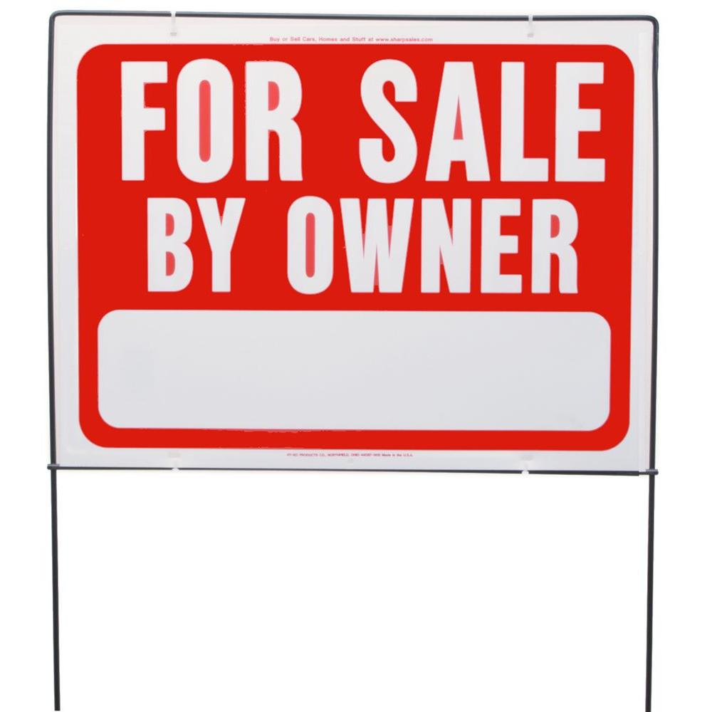 Hy Ko For Sale By Owner Sign With Frame Rsf 605 The Home Depot