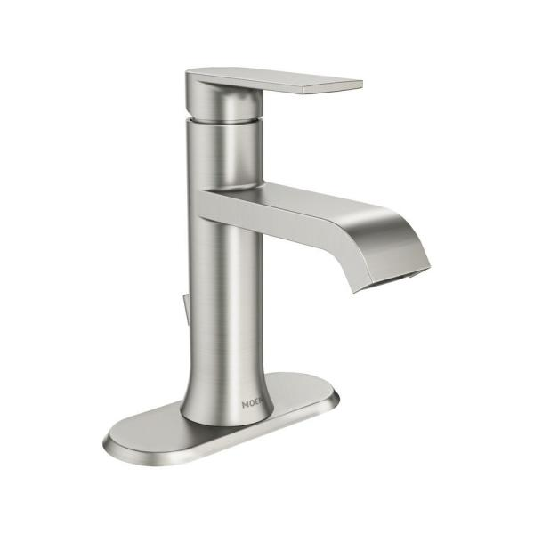 Moen 6191BN Align One Handle Single Hole Bathroom Faucet Brushed Nickel w// Drain
