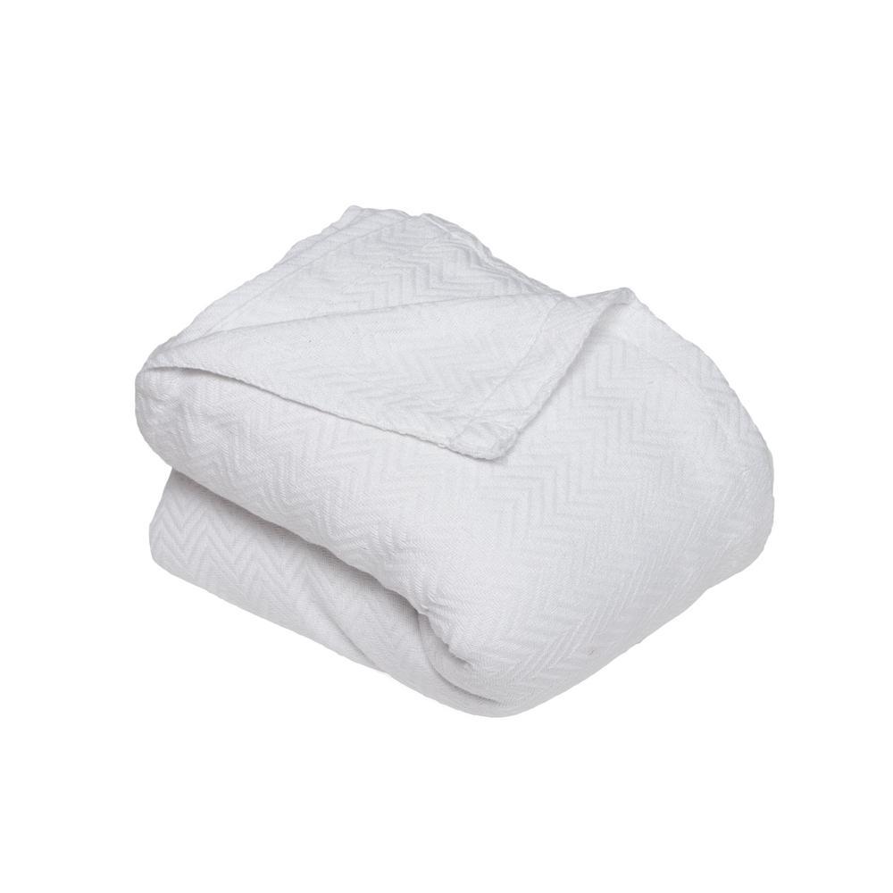 Josie Cotton Full/Queen Throw Blanket in White