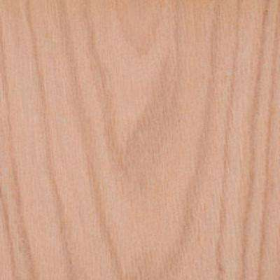 Edgemate 24 in. x 96 in. Red Oak Wood Veneer with 2-Ply Wood Backer
