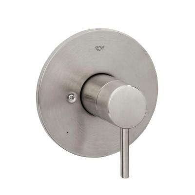 Concetto 1-Handle Pressure Balance Valve Trim Kit in Brushed Nickel Infinity (Valve Sold Separately)