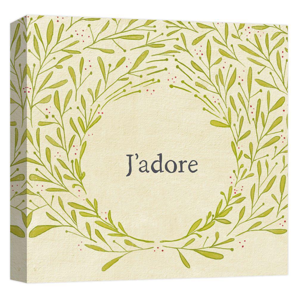 15.inx15.in ''J'adore Wreath'' Printed Canvas Wall Art