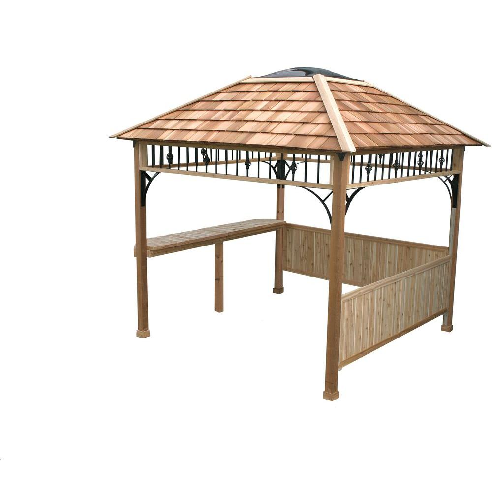 Outdoor Living Today 9 ft. x 9 ft. Naramata Spa Shelter