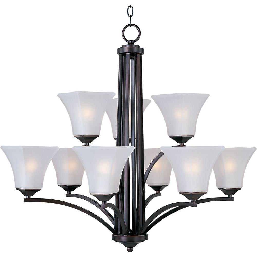 Aurora 9-Light Oil-Rubbed Bronze Chandelier