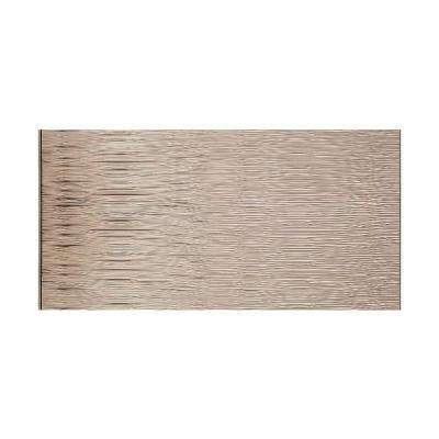 Waves Horizontal 96 in. x 48 in. Decorative Wall Panel in Brushed Nickel