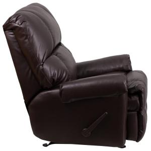 Internet #301745549. +2. Flash Furniture Contemporary Ty Chocolate Leather  Rocker Recliner