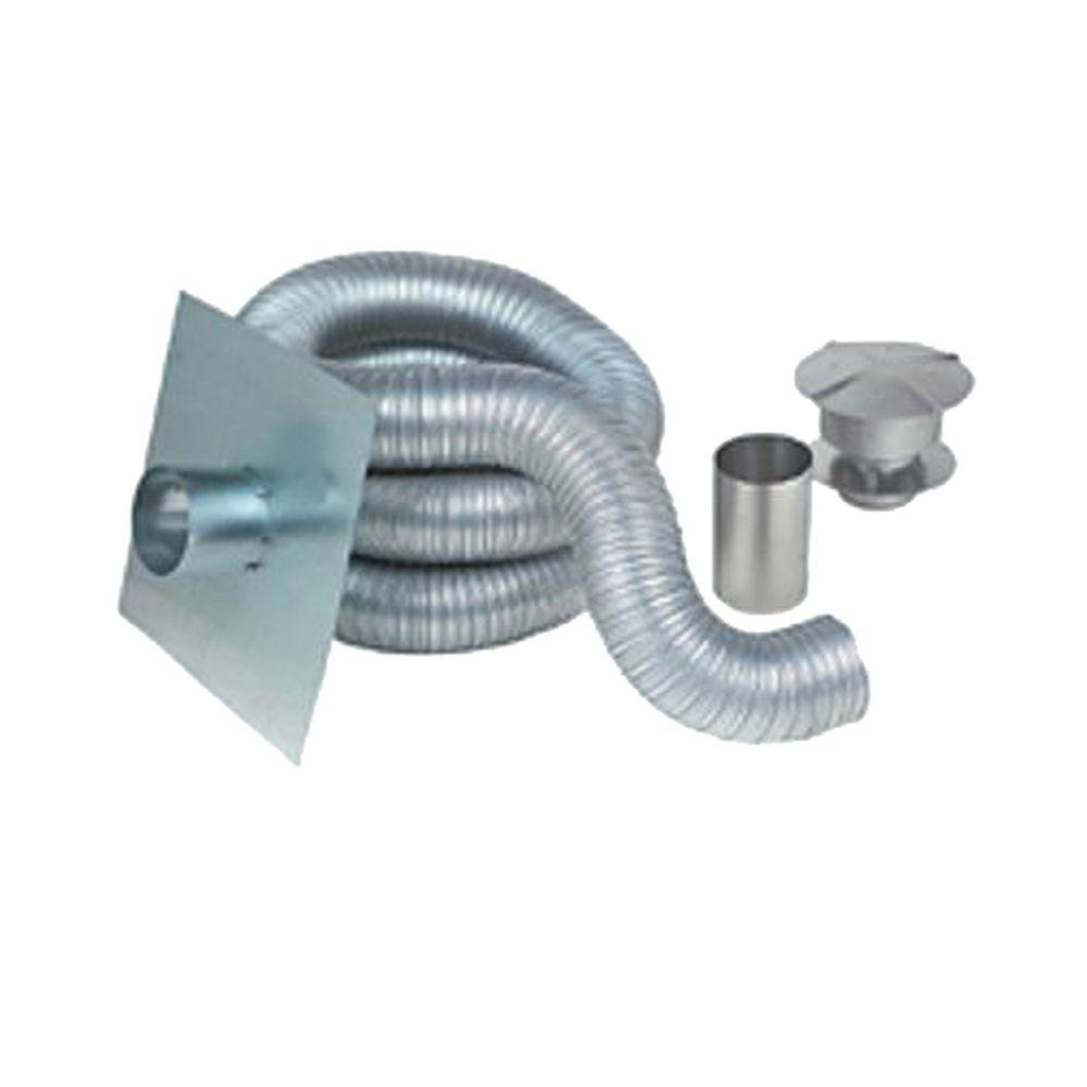 Z Flex 5 In X 35 Ft Gas Aluminum Chimney Liner Kit