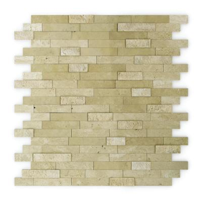 Cairo Beige 4 in. X 4 in. Stone Self-Adhesive Wall Mosaic Tile Sample (0,11 sq. ft. / Each)