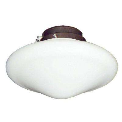 113 Tapered Schoolhouse Oil Rubbed Bronze Indoor/Outdoor Ceiling Fan Light