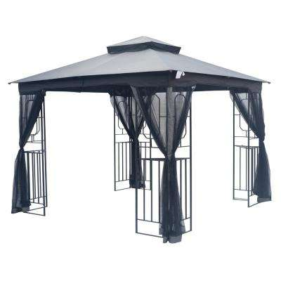 10 ft. x 10 ft. Steel Fan Gazebo