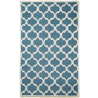 Downe Blue/Ivory 5 ft. x 8 ft. Area Rug