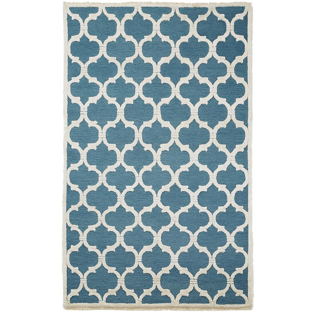 Downe Blue/Ivory 8 ft. x 11 ft. Area Rug