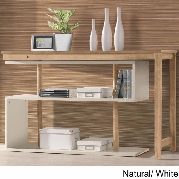 Hamburg Contemporary Virginia Natural and White Swing Out Desk DF-104-NS-DWT