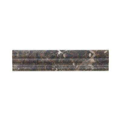 Emperador 12 in. x 2-5/8 in. Marble Crown Wall Tile