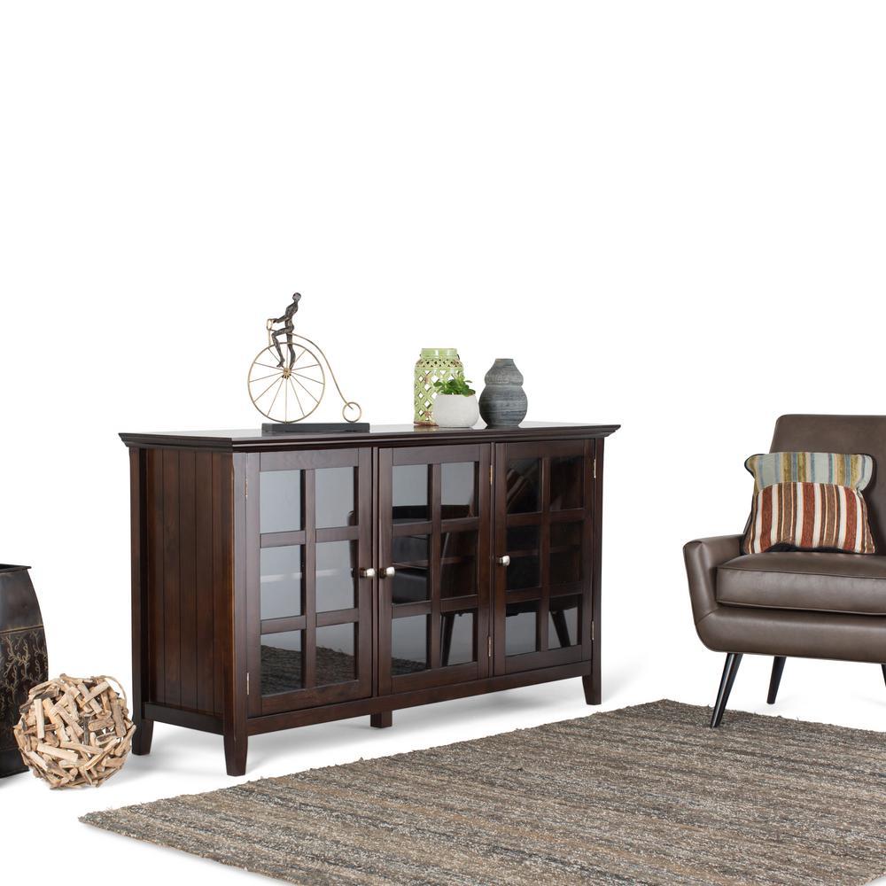 Simpli Home Acadian Brown Storage Cabinet