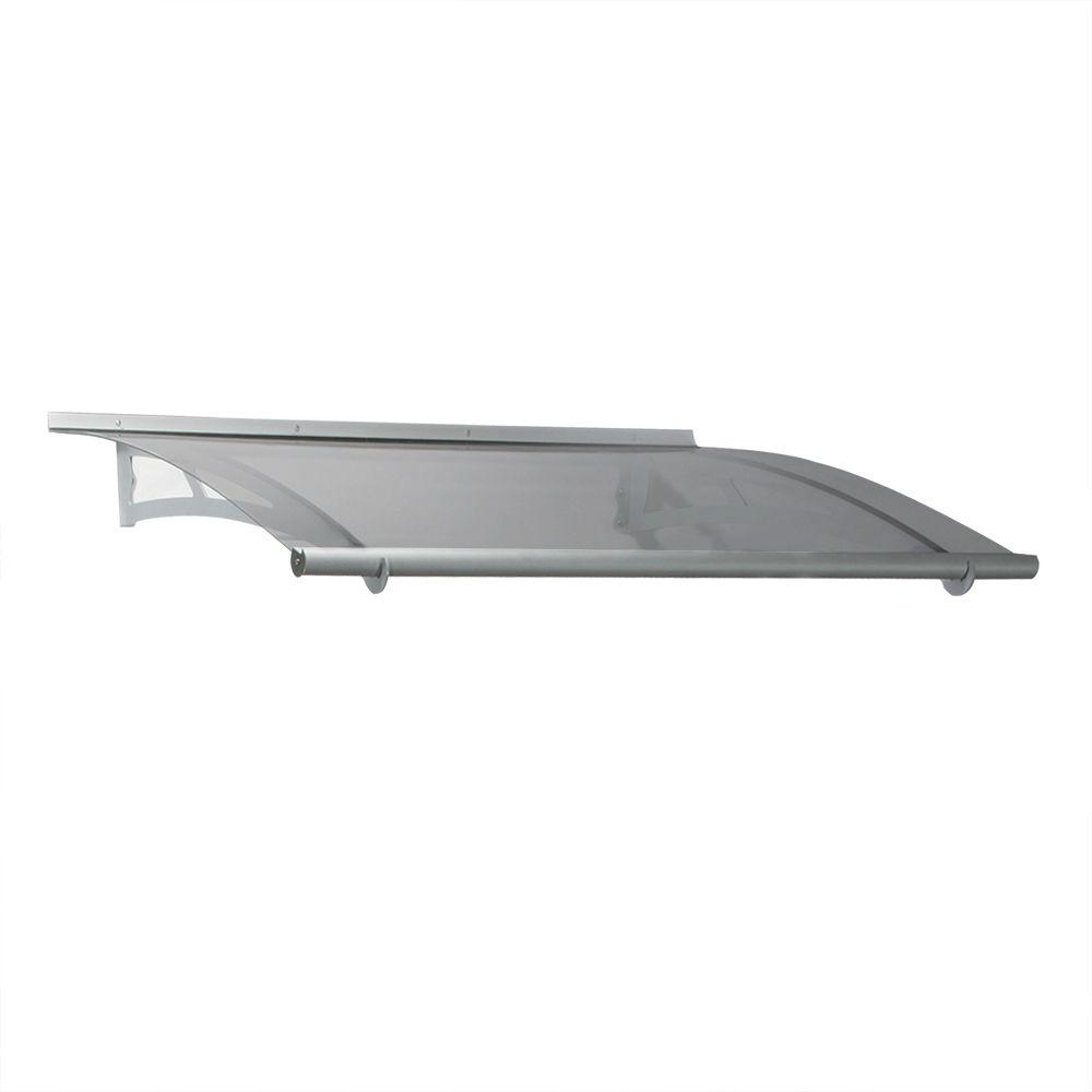 Palram 4 ft. 11 in. Aquila 1500 Awning 6.9 in. H x 3 ft. D Solar Gray