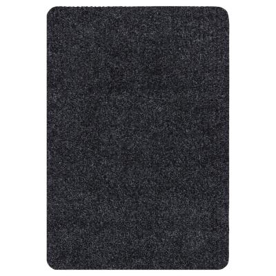 Lifesaver Collection Black 2 ft. x 3 ft. Utility Ribbed Indoor/Outdoor Runner Rug