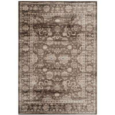 Vintage Brown/Ivory 5 ft. 1 in. x 7 ft. 7 in. Area Rug