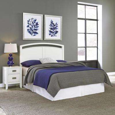 Newport White King Headboard