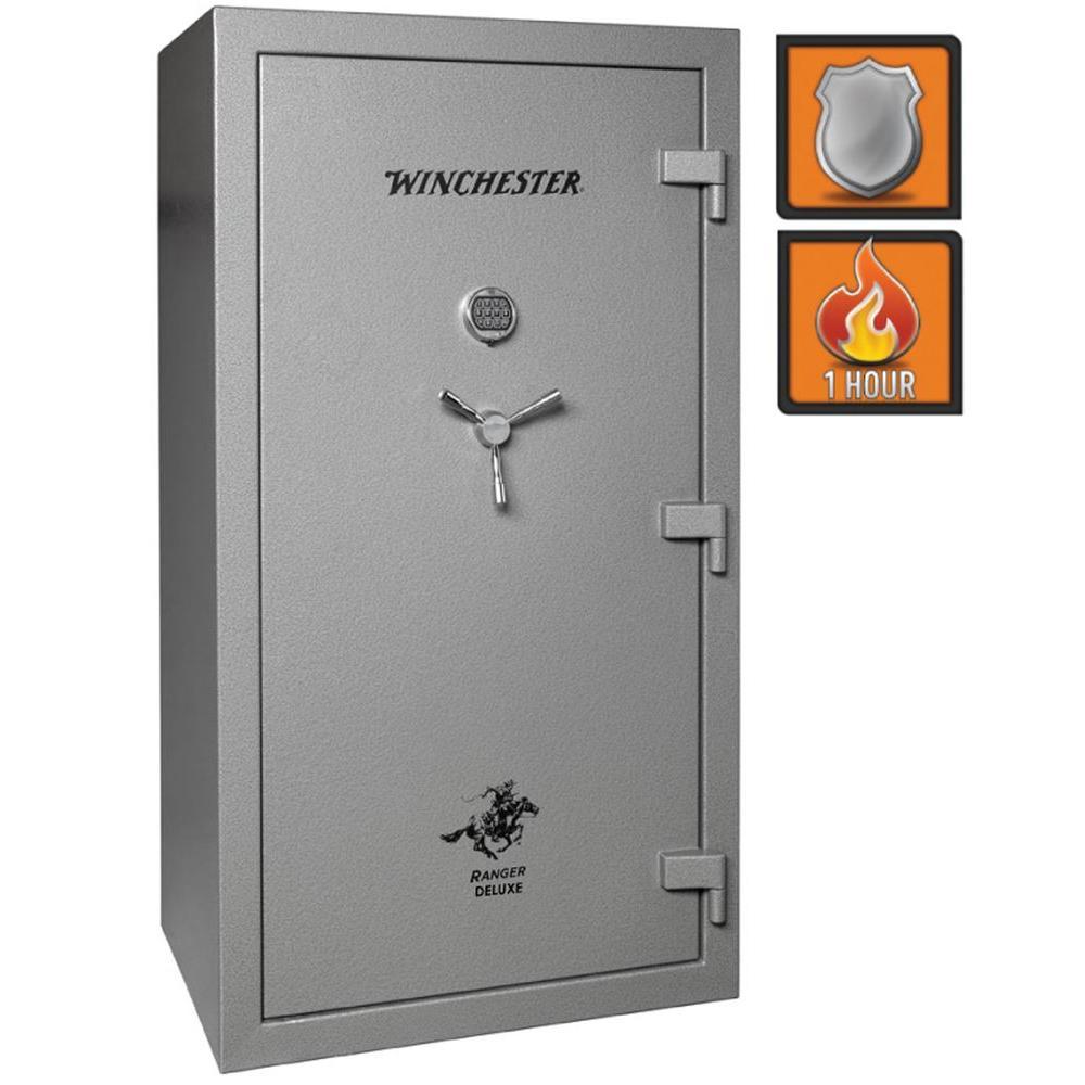 Winchester Safes Ranger Deluxe 45 51-Gun Granite Gloss Fire-Safe Electronic Lock