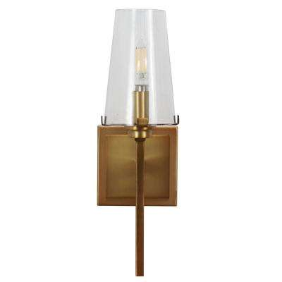 Madison 8 in. Brass Sconce