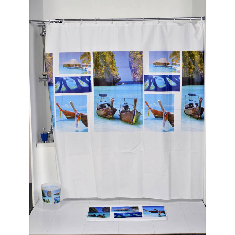 Evideco Shower Curtain Eva Solid Colors 71W X 79L// Vinyl Shower Curtain