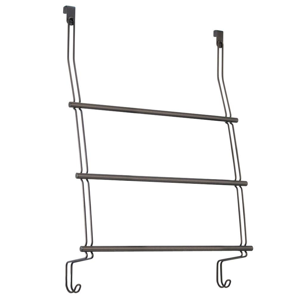 Interdesign Classico Over Shower Door 3 Towel Rack In Bronze 69111