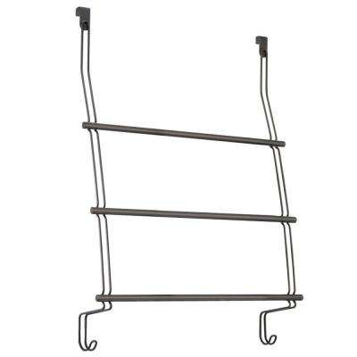 Classico Over Shower Door 3-Towel Rack in Bronze