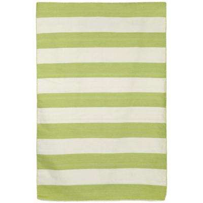 To Plank Lime 4 Ft X 6 Rectangle Indoor Outdoor Area Rug