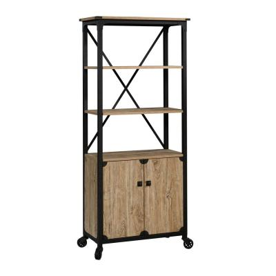 Steel River Milled Mesquite 5-Shelf Bookcase with Doors