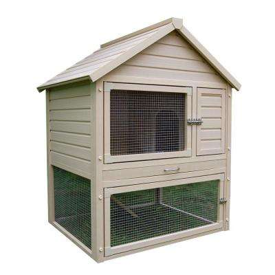 New Age Pet ecoFLEX 2.7 ft. x 4 ft. Huntington Townhouse Rabbit Hutch