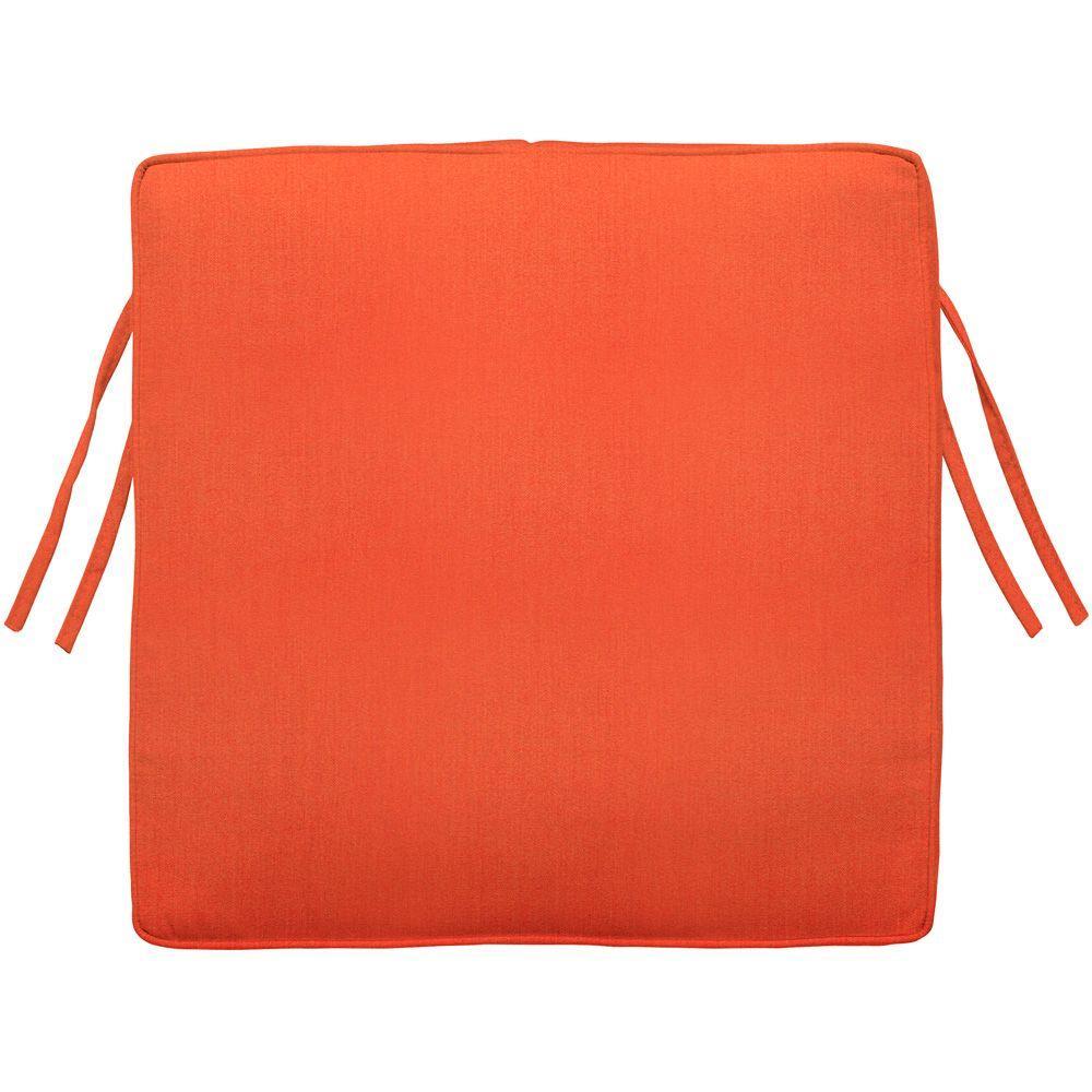 Home Decorators Collection Sunbrella Melon Square Outdoor Seat Cushion