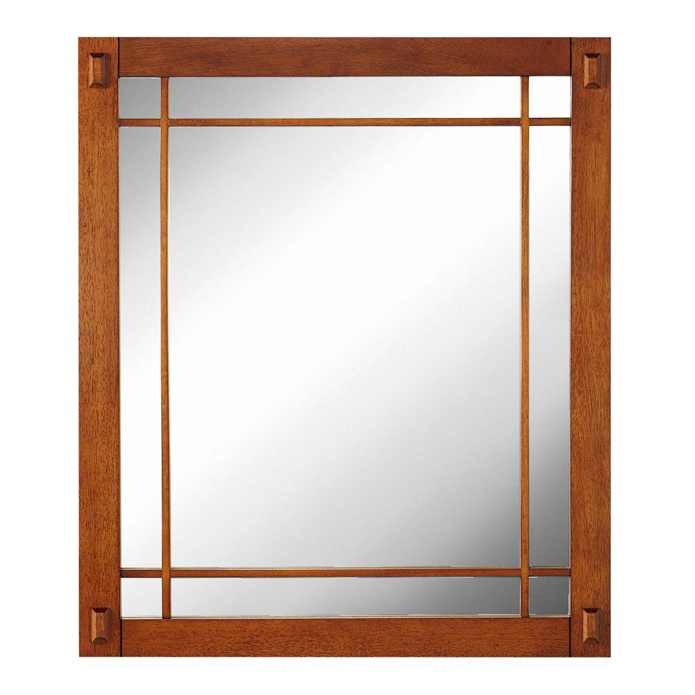 Home Decorators Collection Artisan 26 in. W Mirror in Light Oak