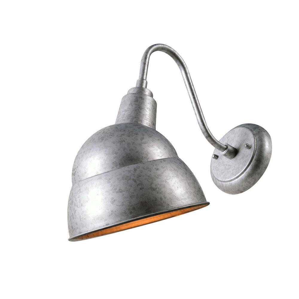 Stout 1-Light Galvanized Outdoor Wall Mount Lantern