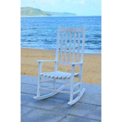 Shasta White Wash Wood Outdoor Rocking Chair